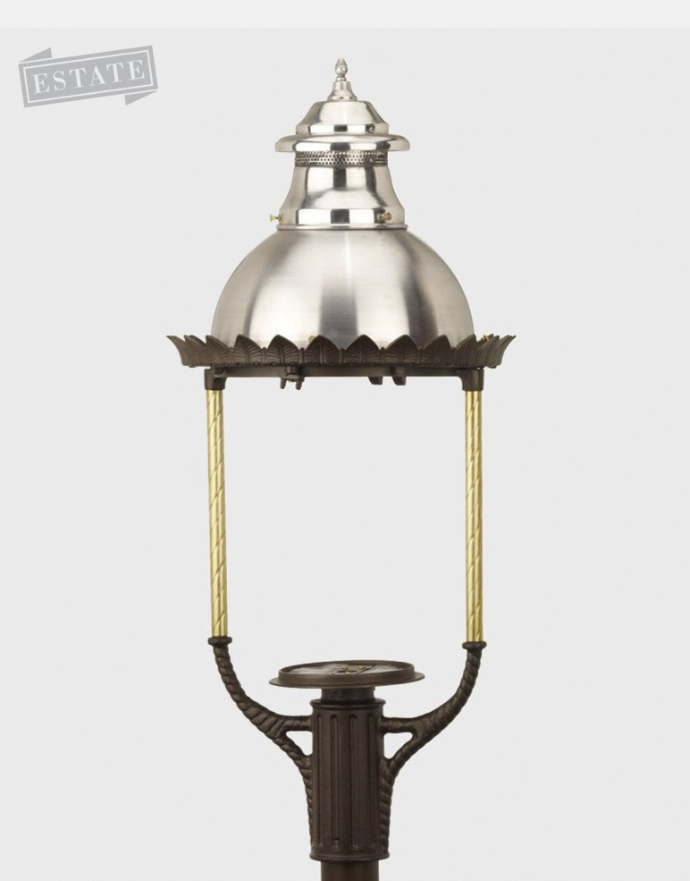Lamp heads parts gas light conversion to led looks like a gas street lamps aloadofball Gallery