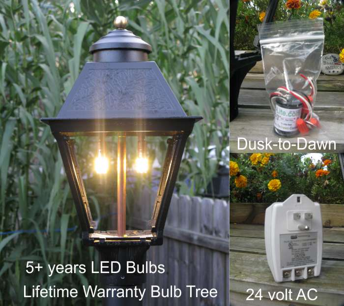28% OFF! LED Colonial Post Lamp Dusk-to-Dawn Kit