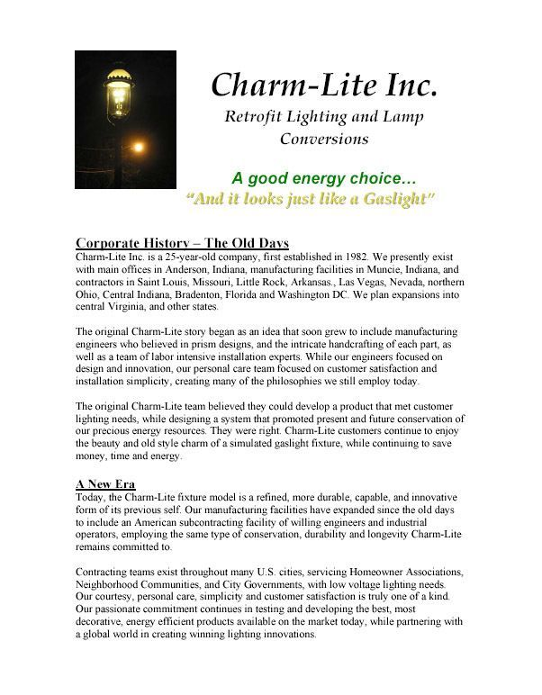 History Of Charm-lite